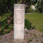 Gedenkstein an der Via Claudia Augusta